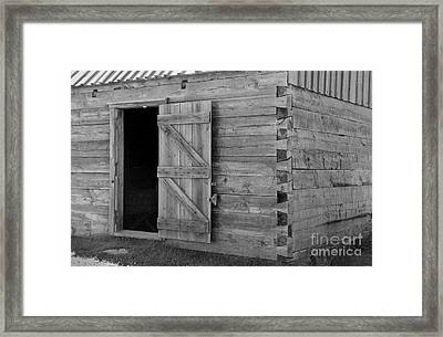 Doucet Barn Framed Print by Lionel F Stevenson