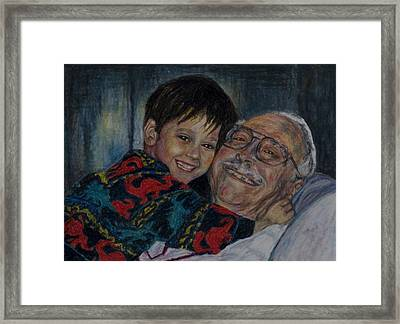 Doug And Papafred Framed Print by Laurie Tietjen