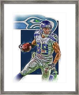 Doug Baldwin Seattle Seahawks Oil Art Framed Print
