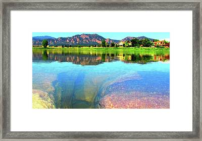 Framed Print featuring the photograph Doughnut Lake by Eric Dee