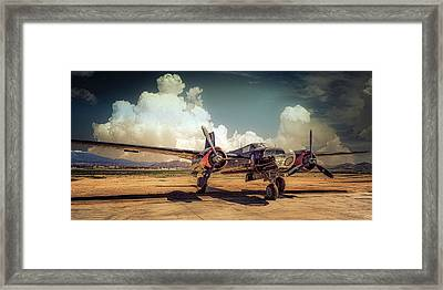 Framed Print featuring the photograph Douglas A26 Invader by Steve Benefiel