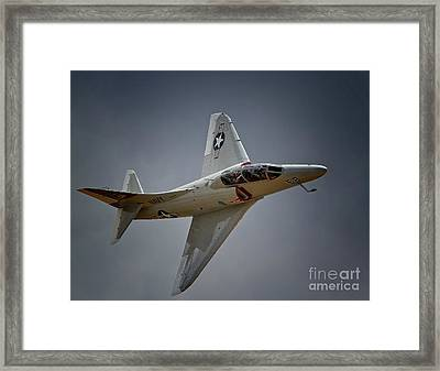 Douglas A4 Skyhawk 2011 Chino Planes Of Fame Air Showe Framed Print by Gus McCrea