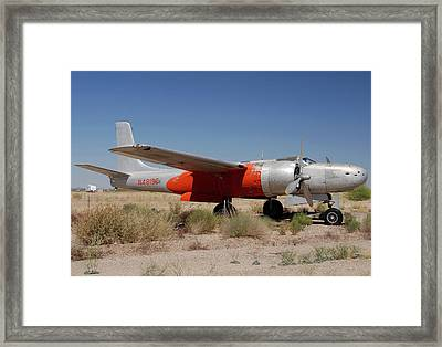 Douglas B-26b Invader N4819e Buckeye Arizona April 29 2011 Framed Print