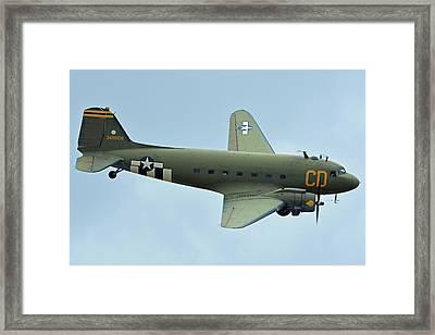 Douglas C-47b Dakota N47sj Betsy's Biscuit Bomber Chino California April 30 2016 Framed Print by Brian Lockett