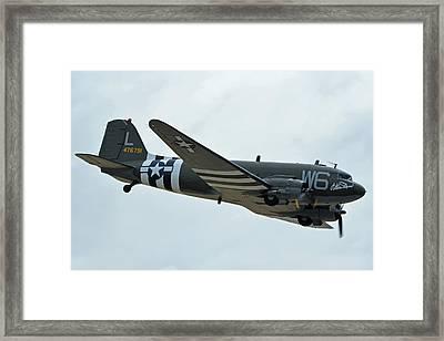 Douglas C-47b Dakota N791hh Willa Dean Chino California April 30 2016 Framed Print by Brian Lockett