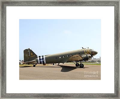 Douglas C47 Skytrain Military Aircraft 7d15788 Framed Print by Wingsdomain Art and Photography
