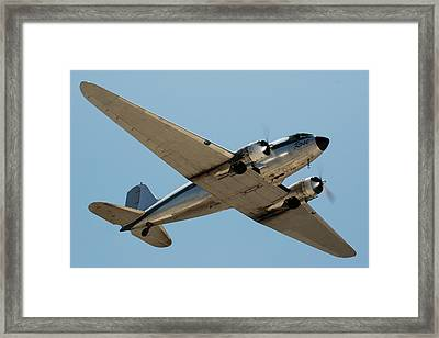 Douglas Dc-3 Rose At Hawthorne Framed Print by Brian Lockett