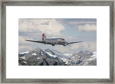 Douglas Dc3 - Dakota Framed Print by Pat Speirs