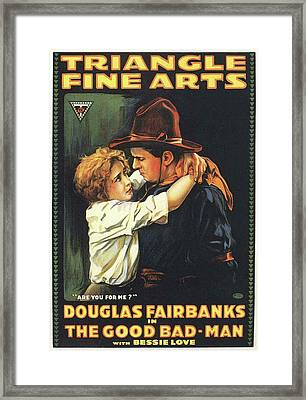 Douglas Fairbanks In The Good Bad Man 1916 Framed Print