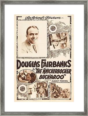 Douglas Fairbanks In The Knickerbocker Buckaroo 1919 Framed Print by Mountain Dreams