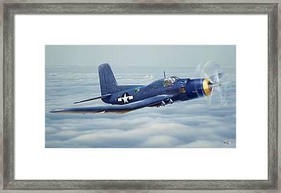 Douglas Skypirate In Flight Framed Print by Alex Arkhipau