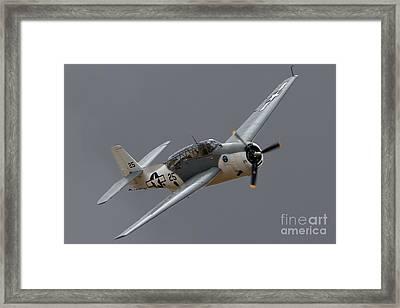 Grummantbf Avenger 2011 Chino Planes Of Fame Framed Print by Gus McCrea