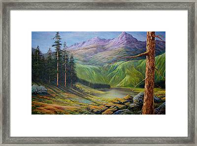 Framed Print featuring the painting Doug's  by Loxi Sibley