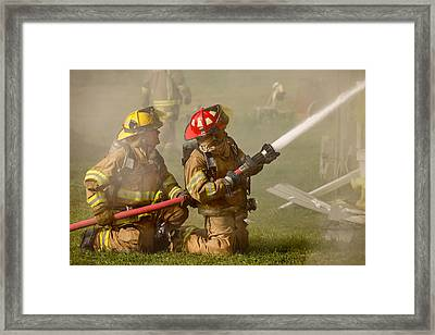 Dousing The Flames Framed Print by Todd Klassy