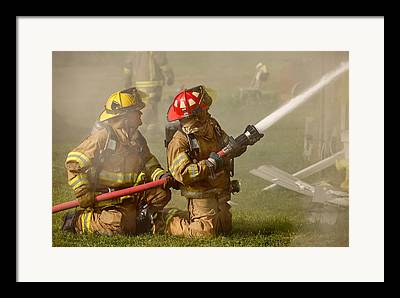 Fire Fighters Framed Prints
