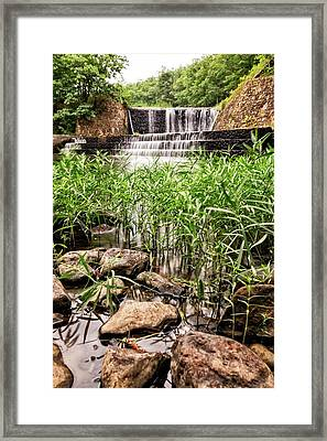 Framed Print featuring the photograph Douthat Lake Dam by Alan Raasch