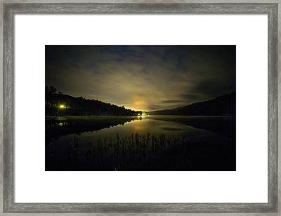 Framed Print featuring the photograph Douthat Lake Night by Alan Raasch