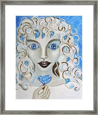 Dove Blues Framed Print