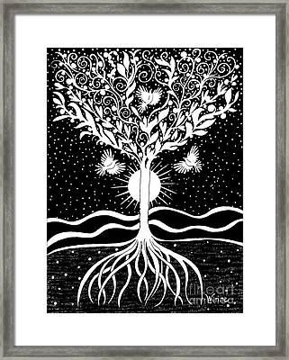 Dove Tree Framed Print