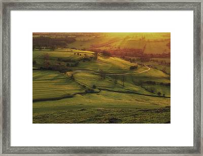 Dovedale Sunset 2 Framed Print