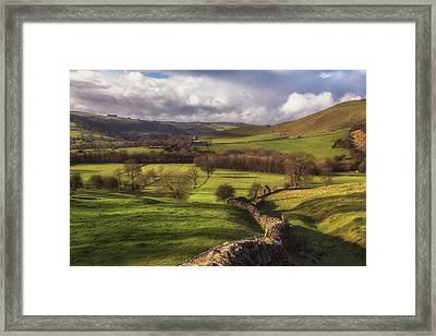 Dovedale Valley Framed Print