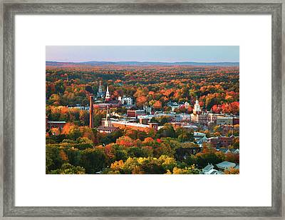 Dover Autumn Colors Framed Print by Eric Gendron