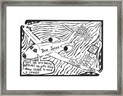 Dow Jones Airlines By Yonatan Frimer Framed Print