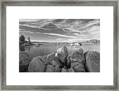 Dowdy Lake In Black And White Framed Print by James Steele