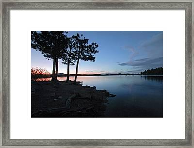 Dowdy Lake Silhouette Framed Print by James Steele