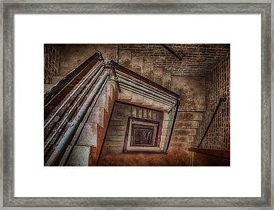 Down And Around - Staircase Framed Print by Nikolyn McDonald