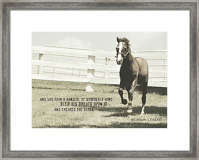 Down And Back Quote Framed Print by JAMART Photography