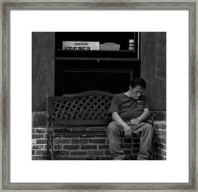 Down And Out In Baltimore Framed Print by Brian Murphy