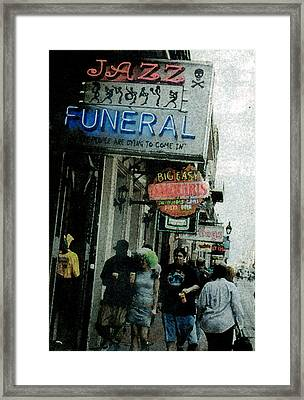 Framed Print featuring the digital art Down At The French Quarter by Saad Hasnain