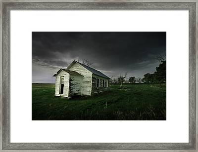 Down At The Schoolyard Framed Print