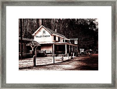 Down At Valley Green Framed Print by Bill Cannon