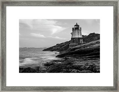 Framed Print featuring the photograph Down Below Castle Hill Light by Andrew Pacheco