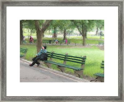 Down But Not Out Framed Print by Eddie Durrett