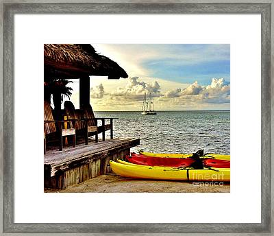 Down By The Bay Framed Print by LisaRenee Ludlum
