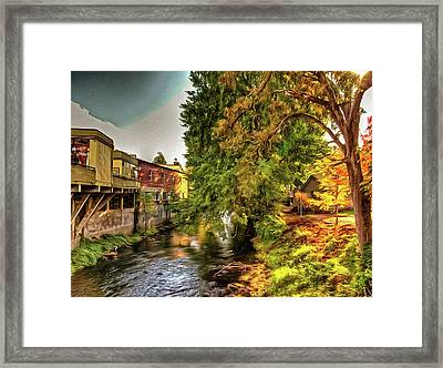 Down By The Creek Framed Print