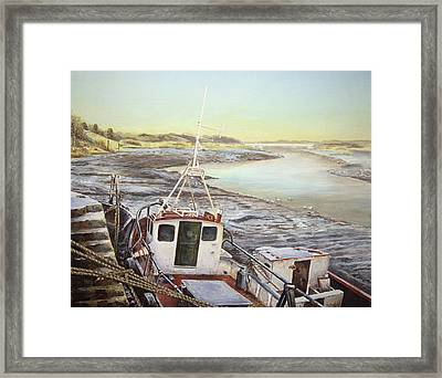 Down By The Docks Framed Print by Marty Garland