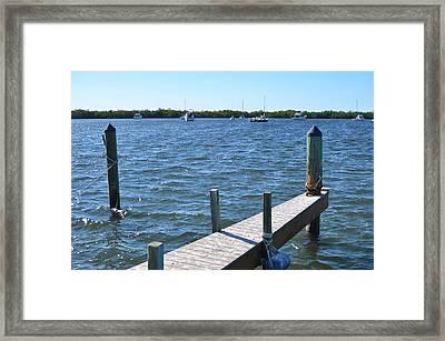 Down By The Docks Framed Print
