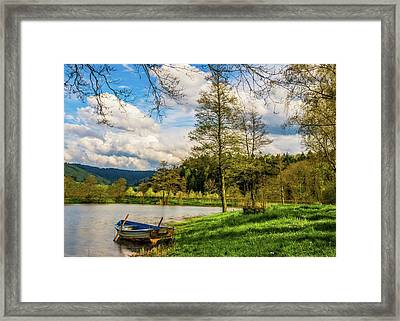 Framed Print featuring the photograph Down By The Lake  by David Dehner