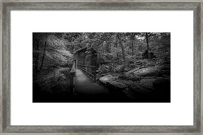 Down By The Mill-bw Framed Print
