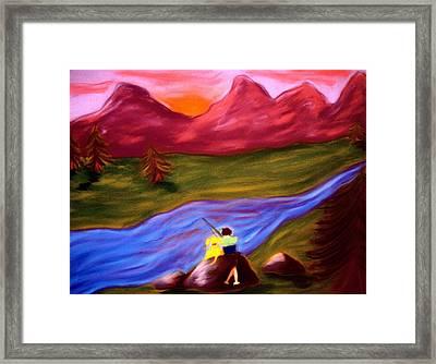 Down By The River Framed Print by Christine Crosby