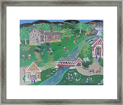 Down By The River Framed Print by Lee Gray