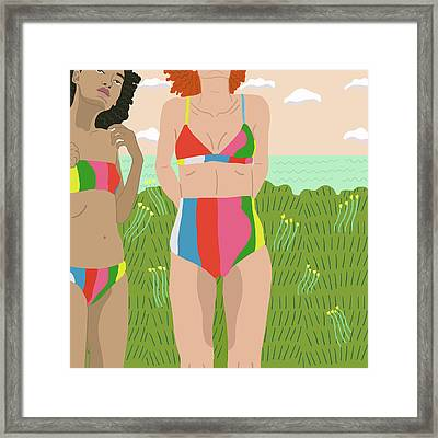 Down By The Shore Framed Print by Nicole Wilson