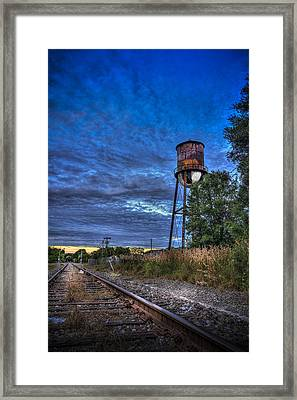 Down By The Tracks Framed Print