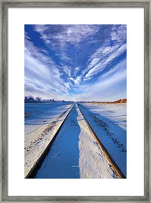Down By The Tracks Framed Print by Phil Koch