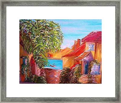 Down By The Water Framed Print by Eloise Schneider