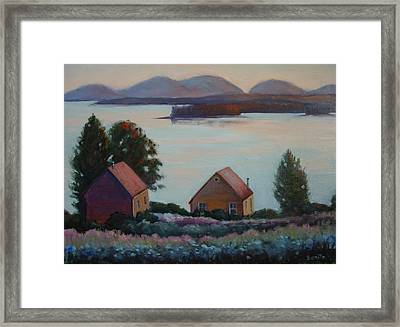 Down East Maine Framed Print
